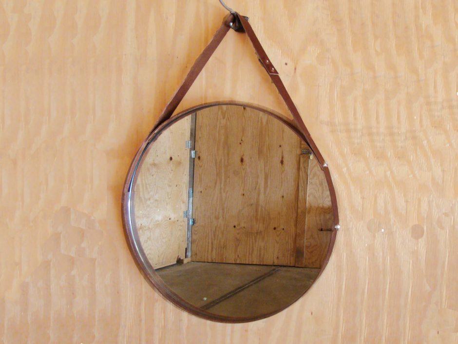 Amazing ronde spiegel leer with ronde spiegel leer for Spiegel rond leer